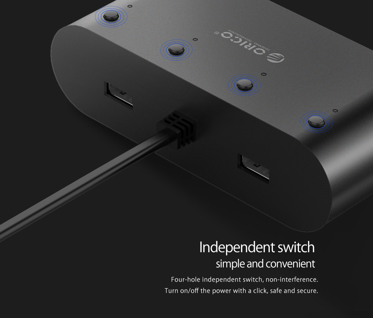 four-hole independent switch