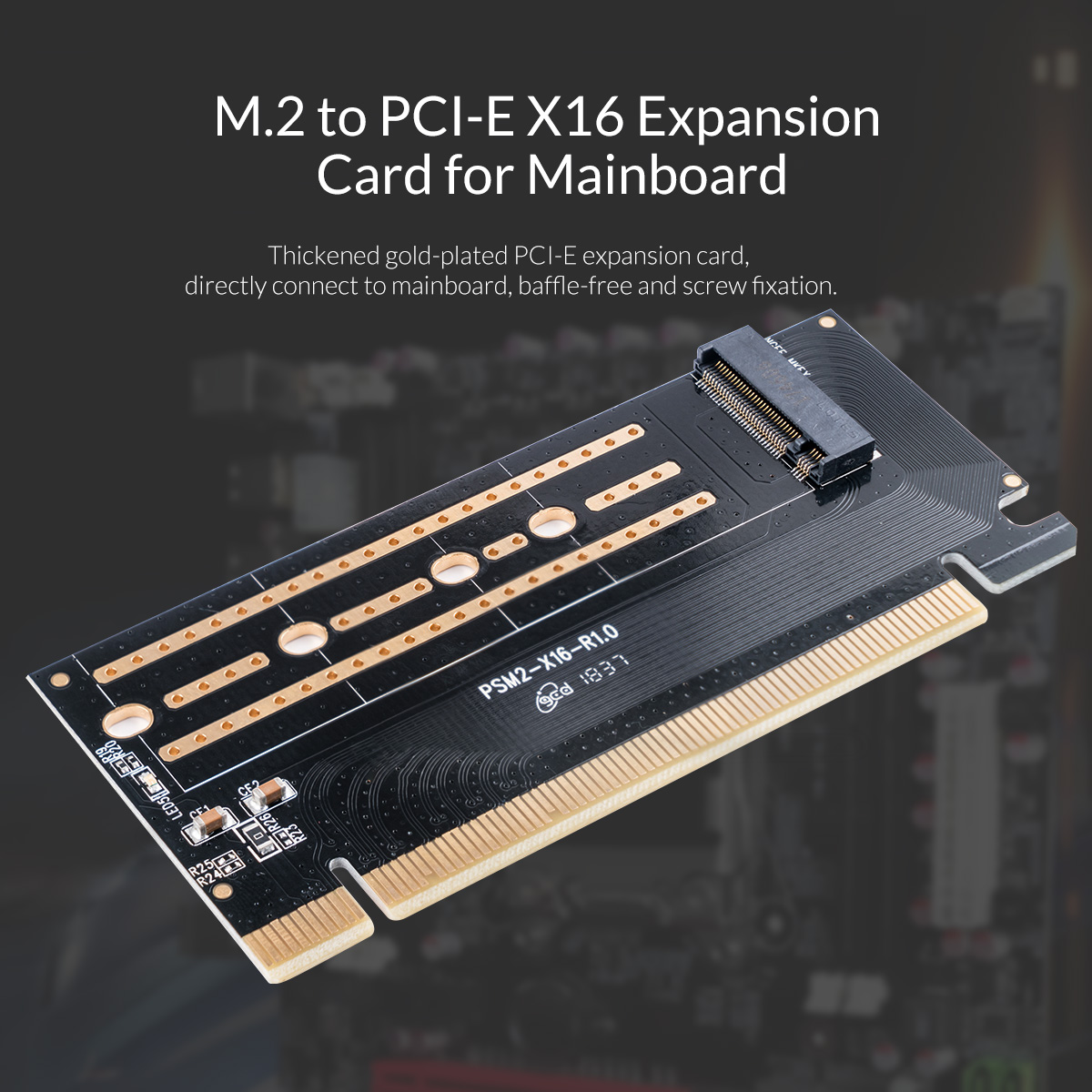 M.2 PCI-E X16 Expansion Card for Mainboard
