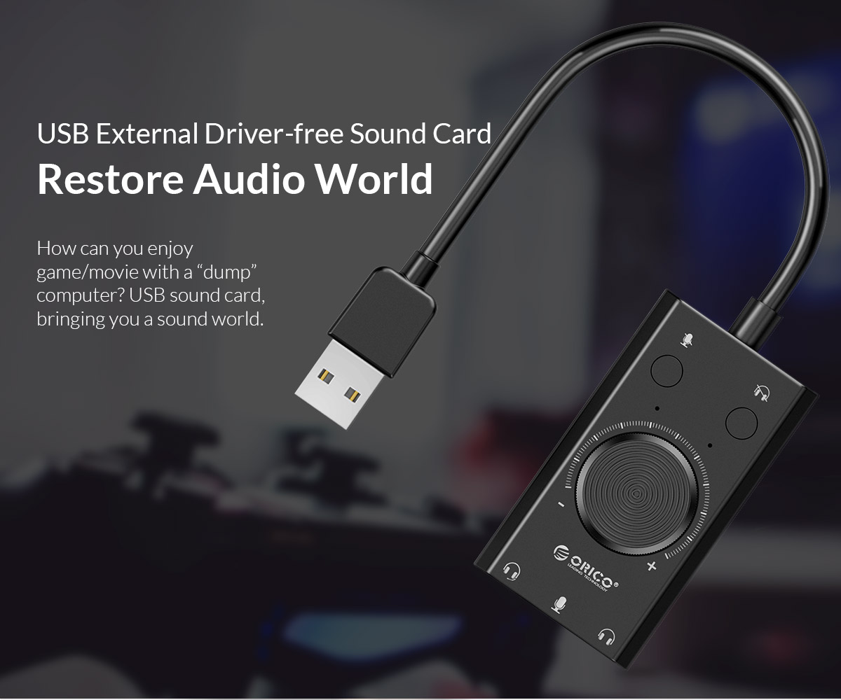 USB external driver-free sound card restore audio world