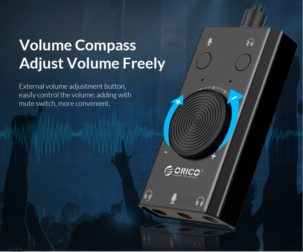 volume compass adjust volume freely