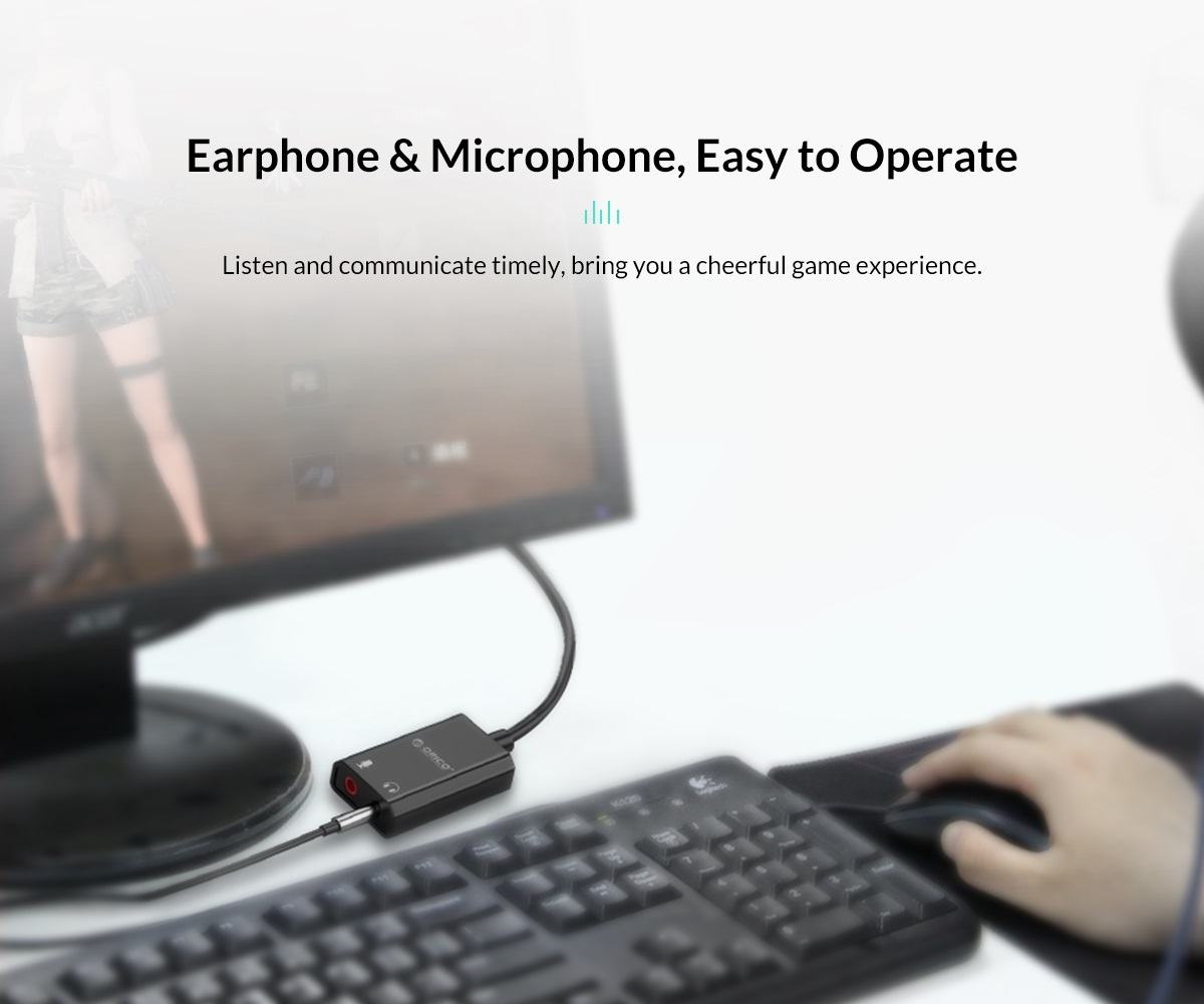 earphone and microphone easy to operate