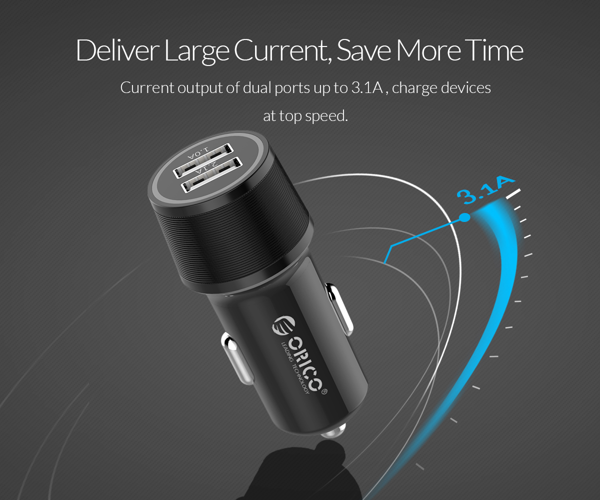 deliver large current save more time current output of dual ports up to 3.1A