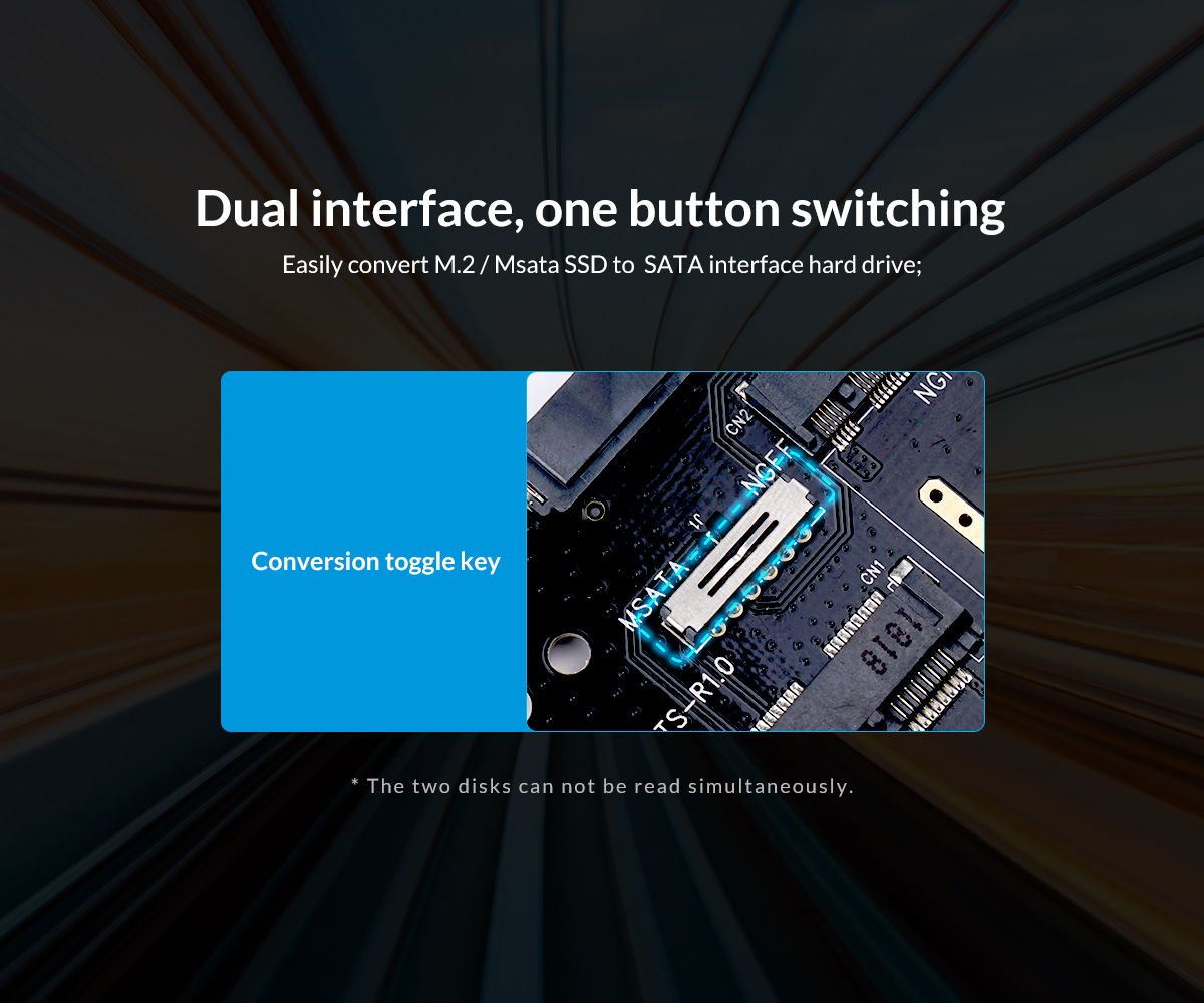 Dual Interface one button switching