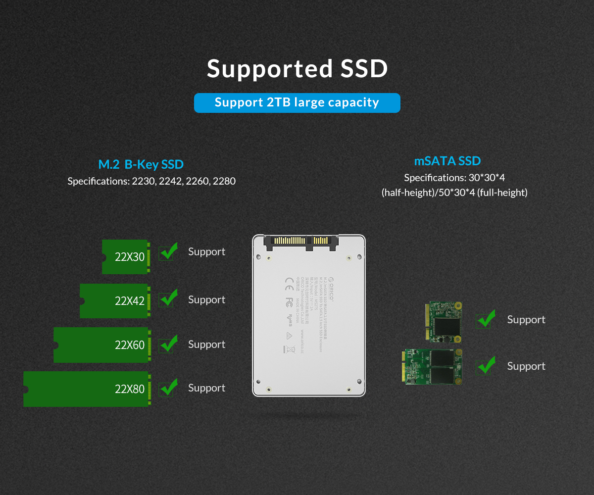 supported SSD , Support 2TB large capacity
