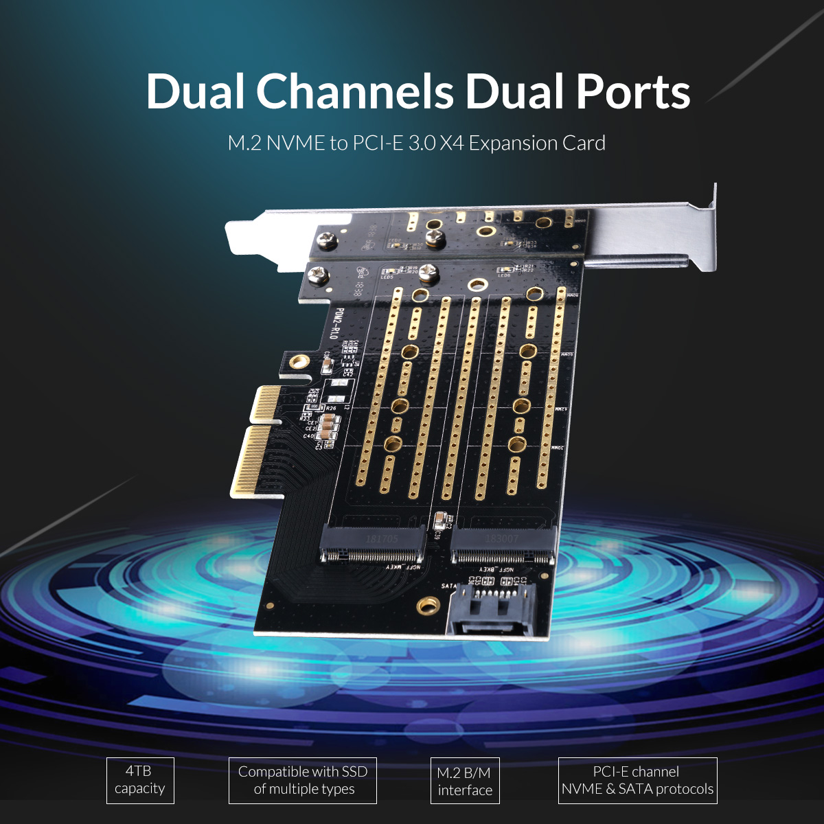 M.2 NVME to PCI-E 3.0 X4 Expansion card