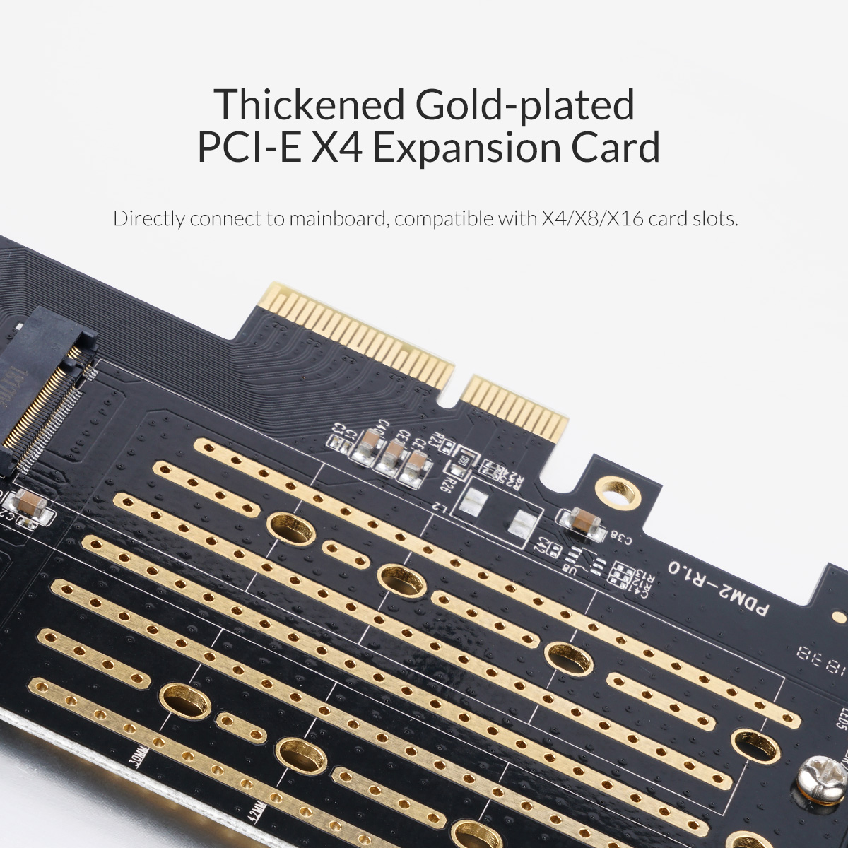Thickened Gold-Plated PCI-E X4 Expansion card