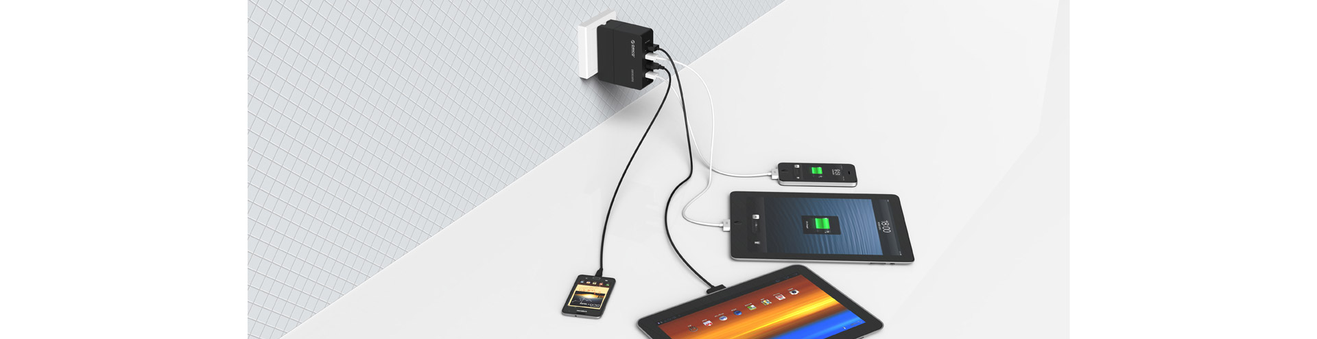 Charges four devices at the same time