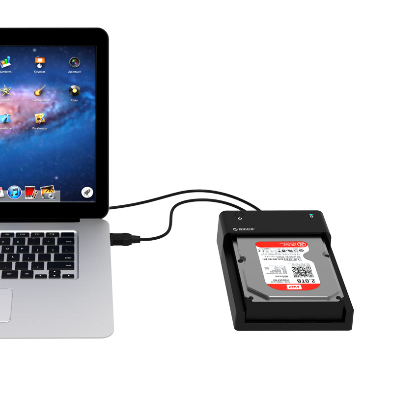 the horizontal type hard drive dock is Tool-free installation, no drive needed