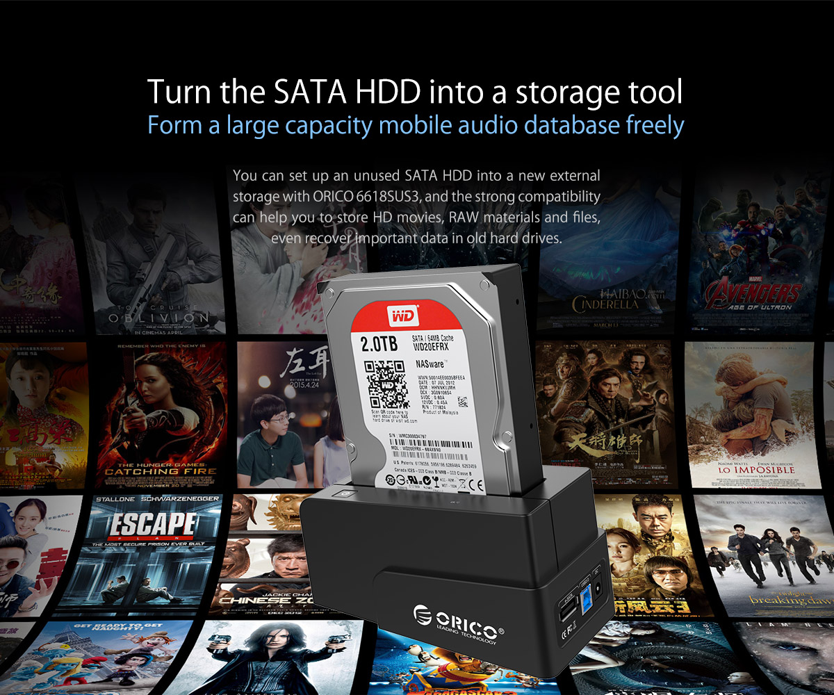 turn the SATA HDD into a storage tool