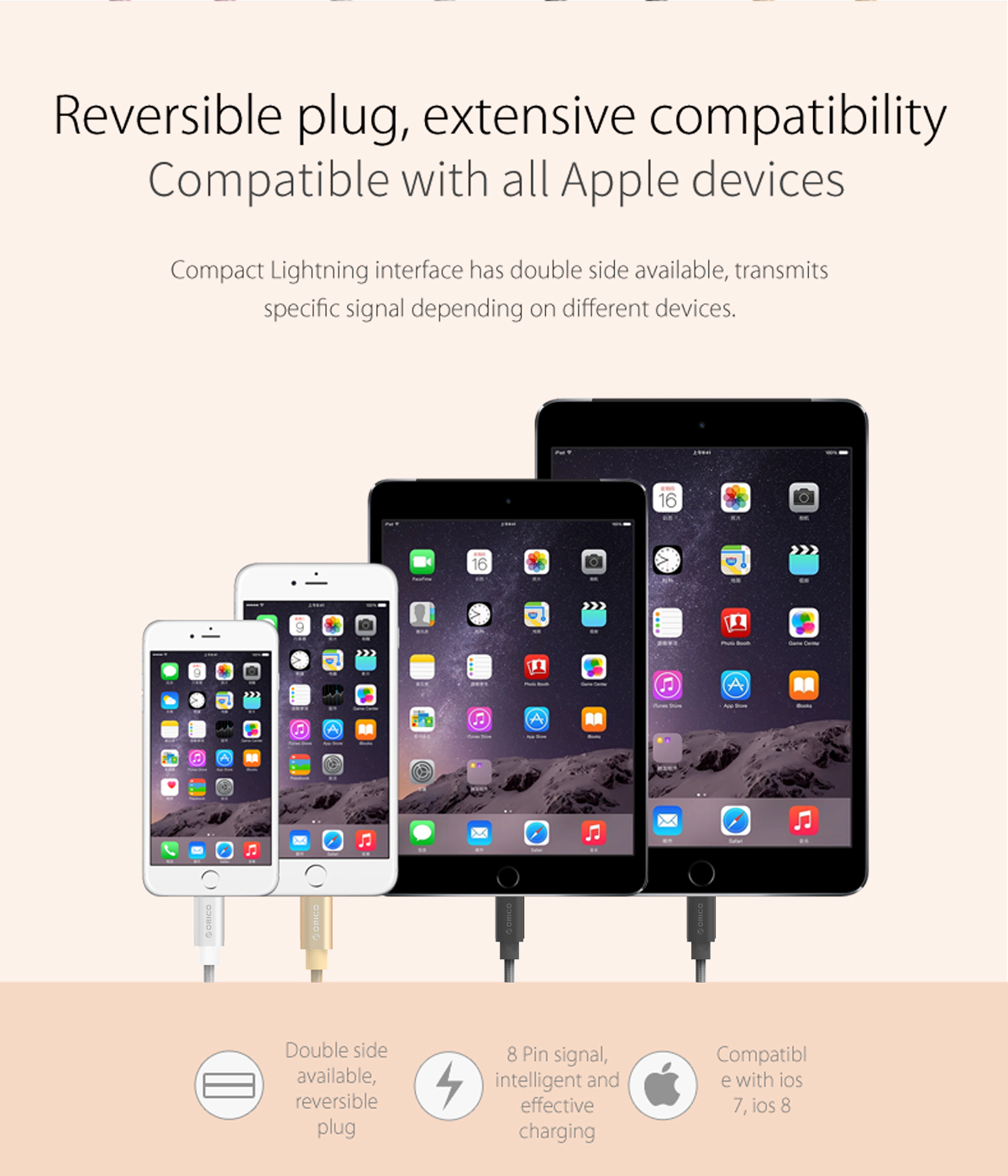 reversible plug and extensive compatibility