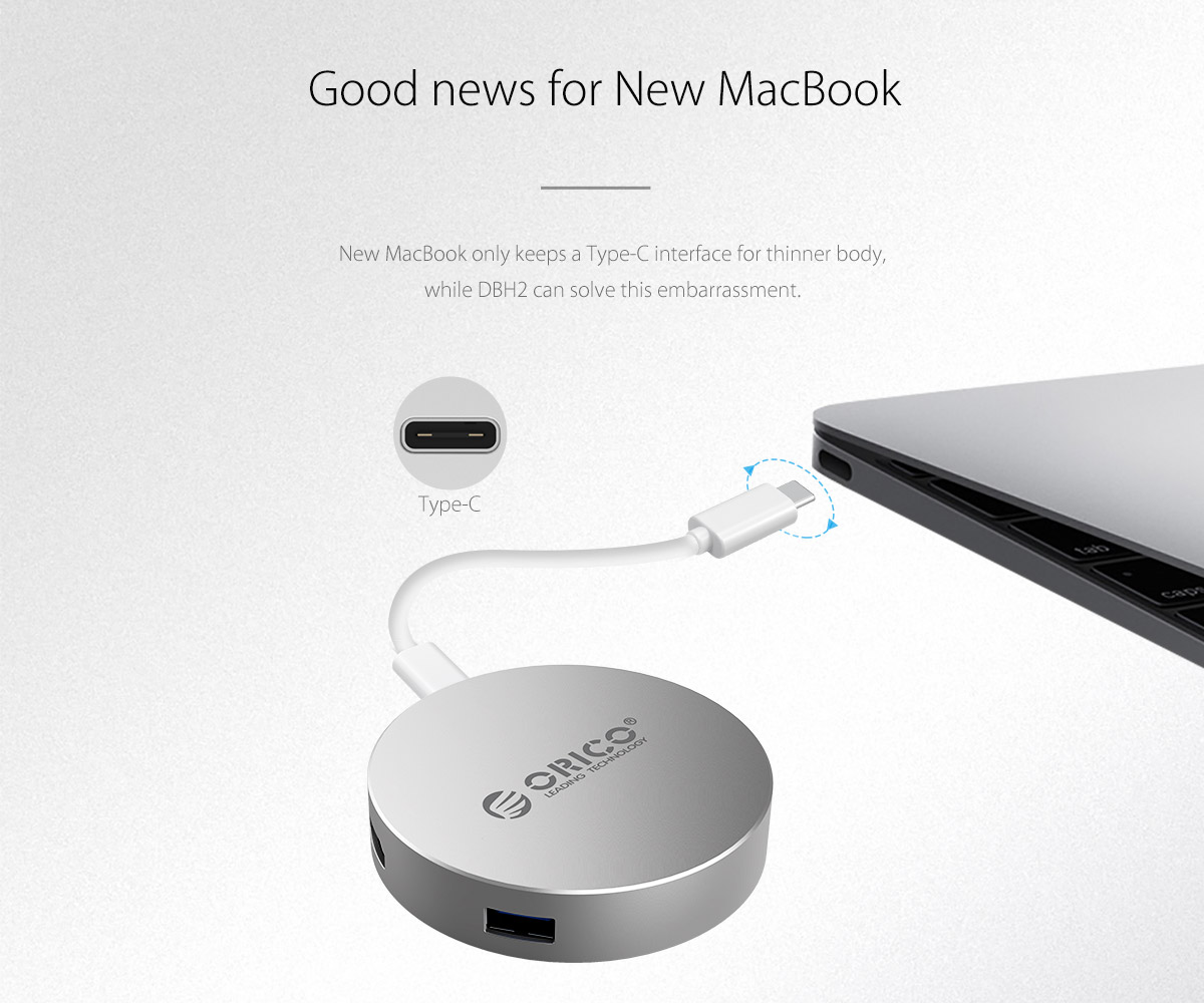 solve the problem of port lacking of Macbook or other thin notebook