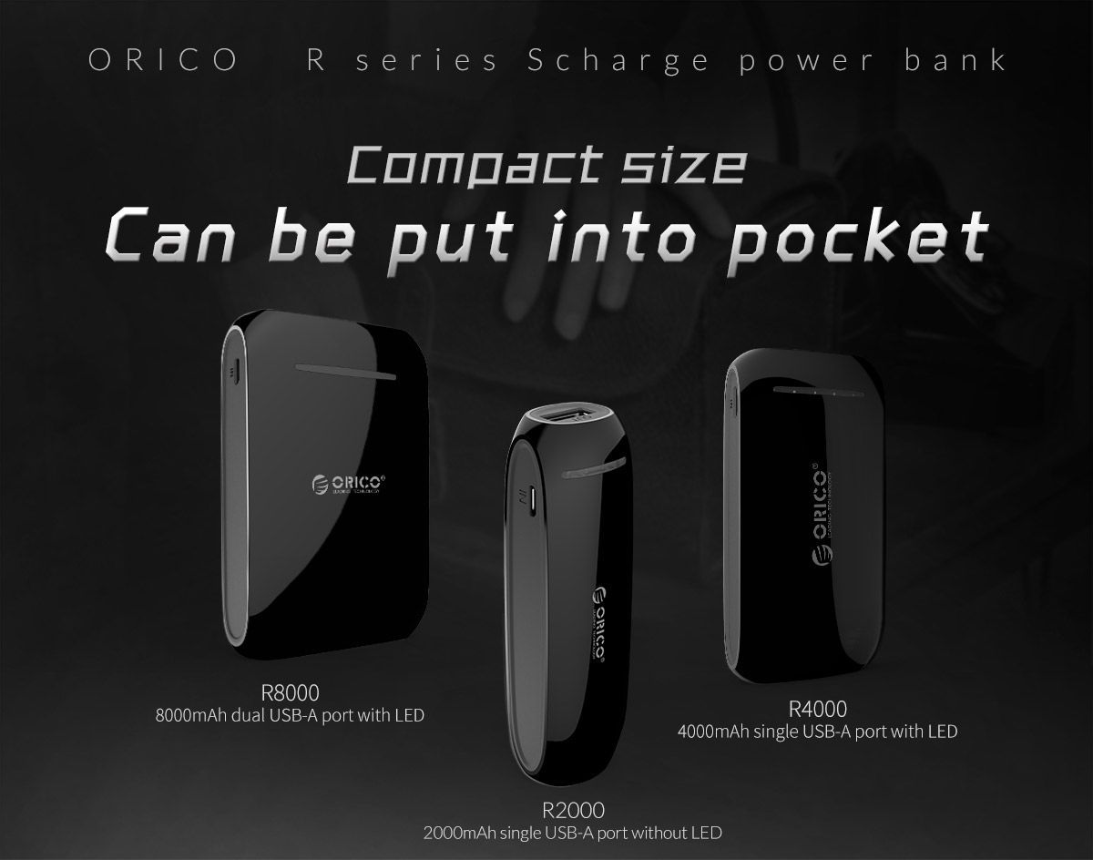 compact sized power bank, a good companion for travel