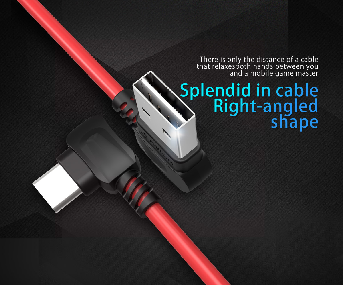 splendid in cable, right-angled shape