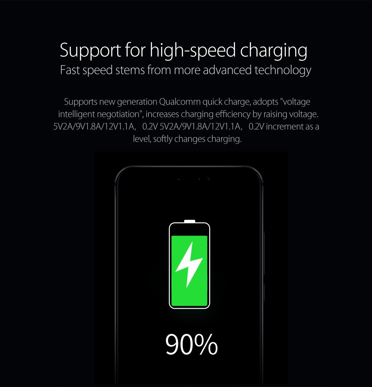 support for high-speed charging