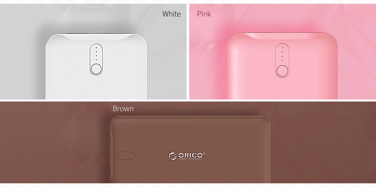 White, pink and brown, three colors for you to choose