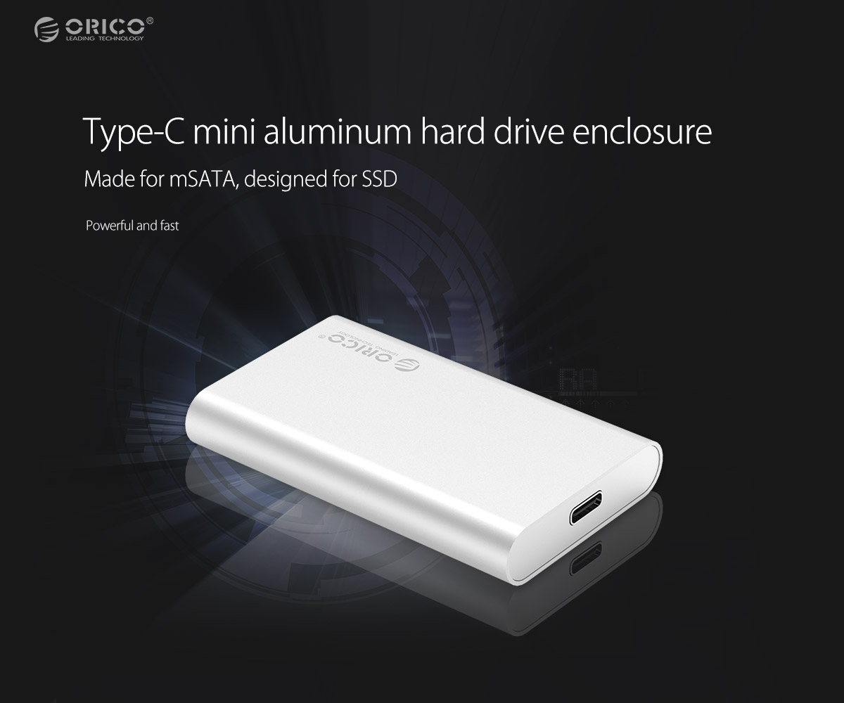 Type-C mini aluminum hard drive enclosure