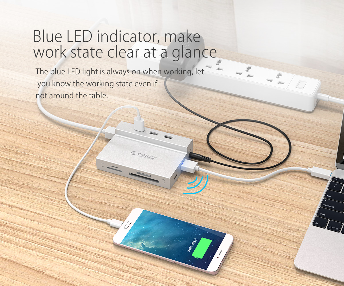 blue LED indicator light