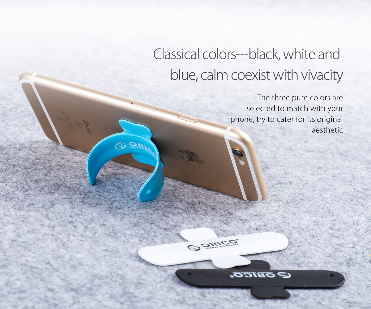 three colors for you to choose, black, white and blue