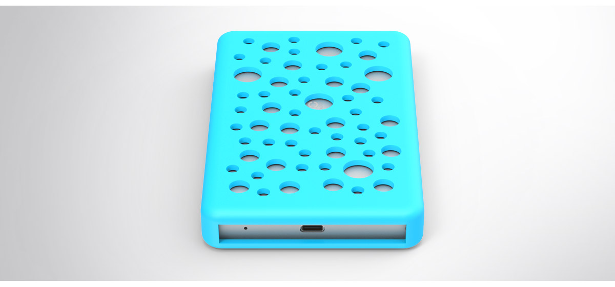 the 2.5inch hard drive is with silicone cover to protect it from collision