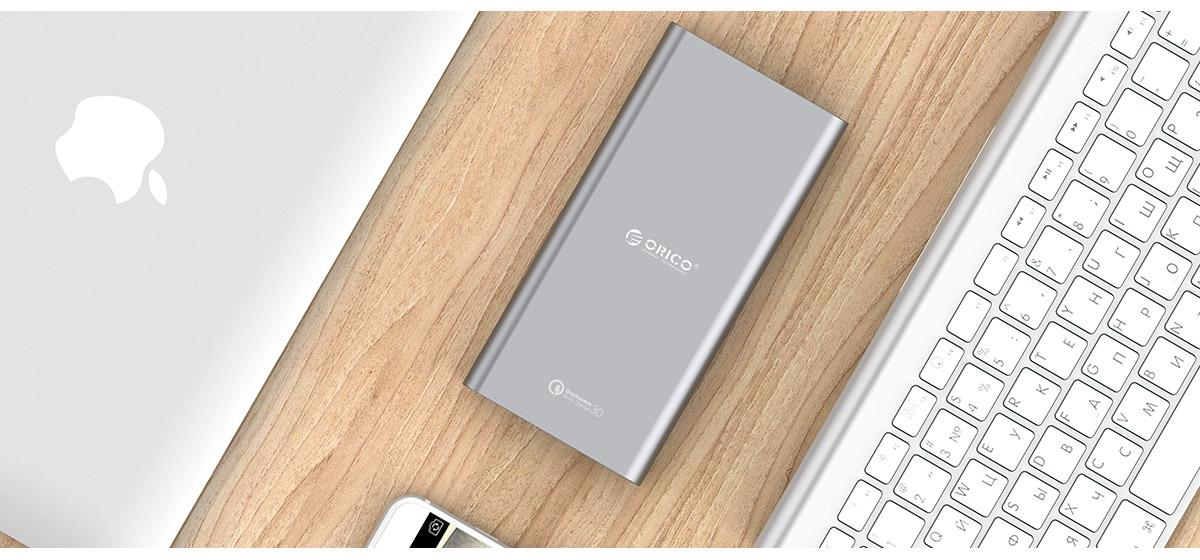 QC3.0 quick charge power bank, compatible with QC2.0 as well