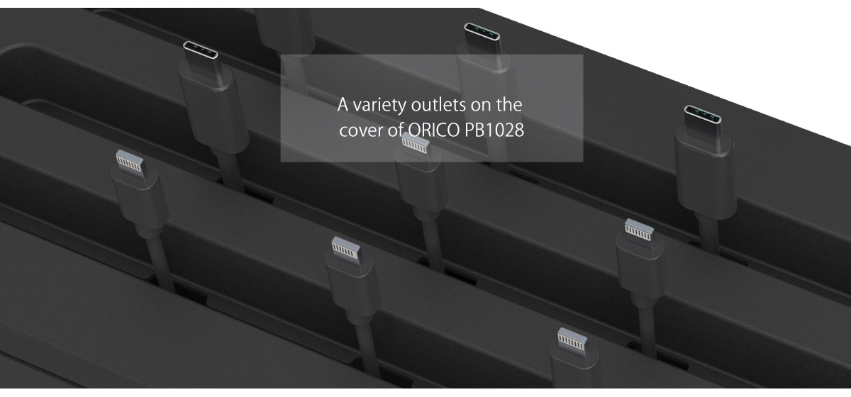 The detached cover with multiple outlets, more convenient to accomodate cables, give you a tidy desktop.