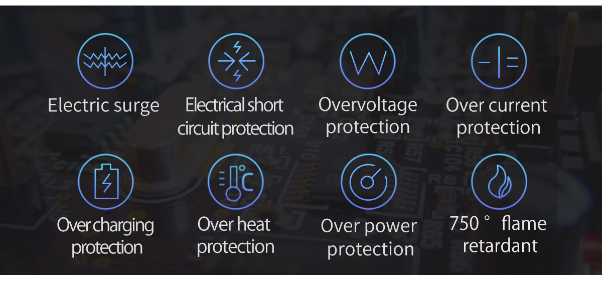 Eight protection modules