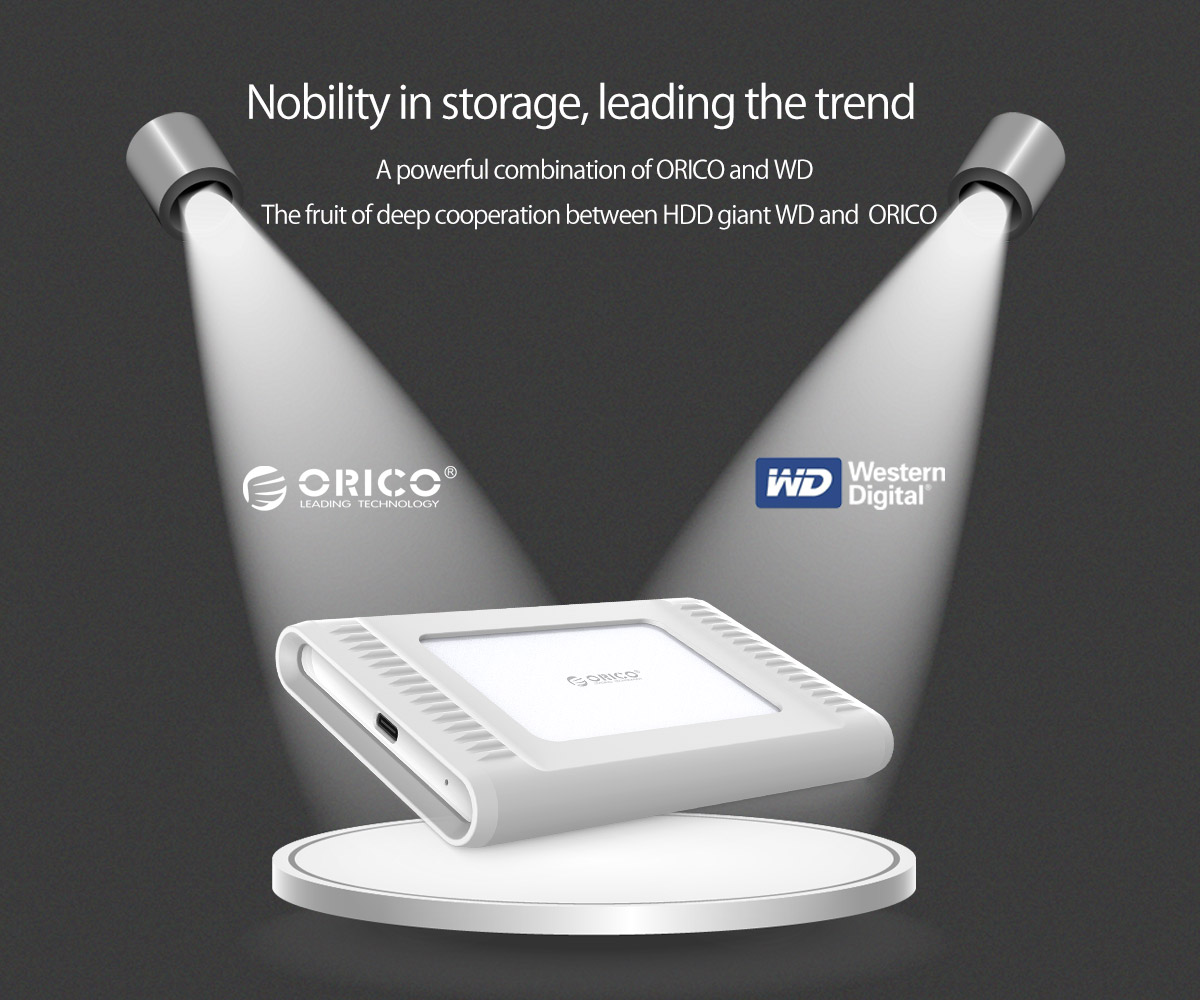 a powerful combination of orico and WD, innovative type-C external hard drive