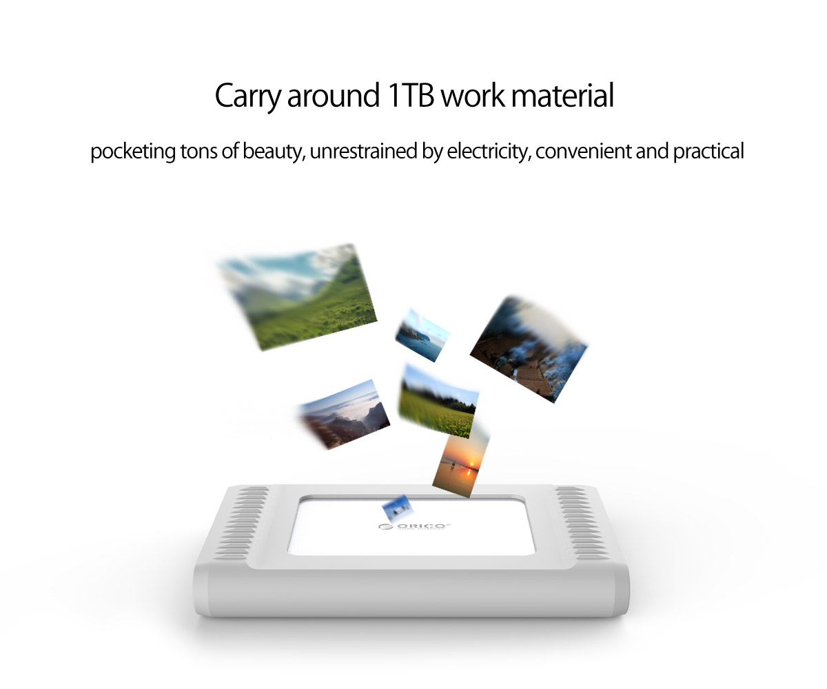 1TB large capacity, store freely