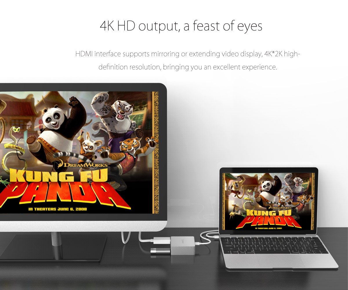 4K HD output and HDMI interface