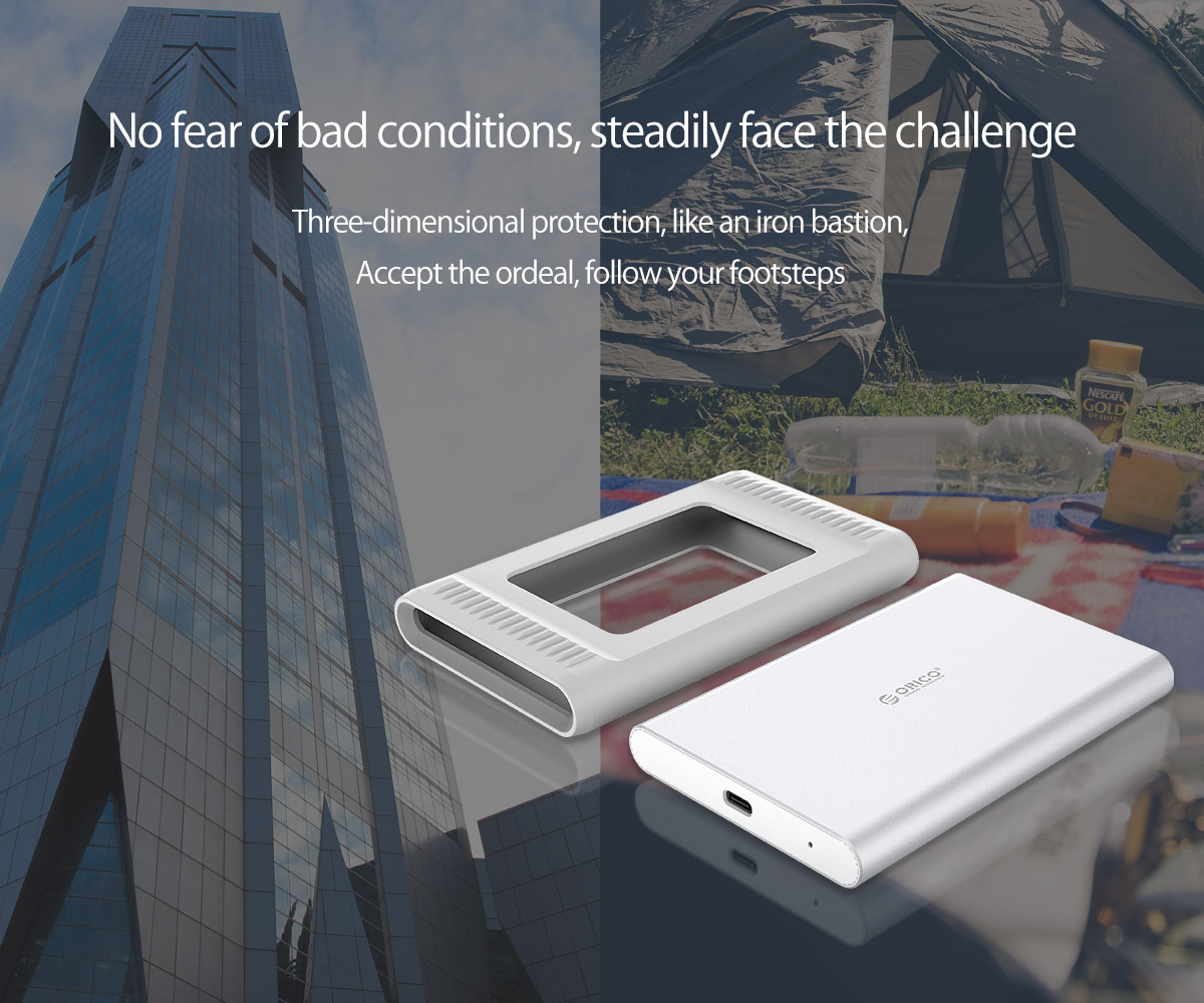 outdoor external hard drive, all round protection