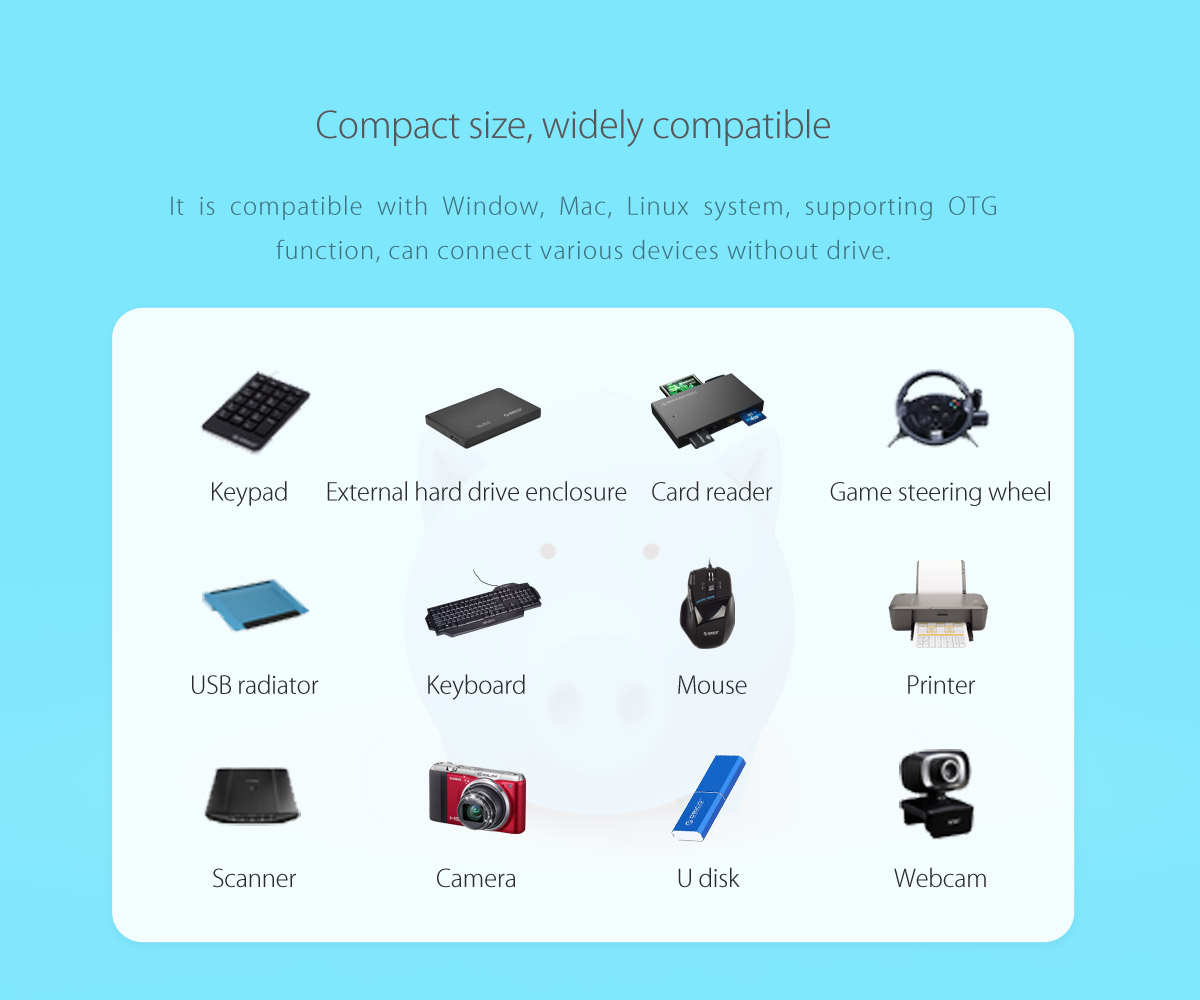 compact size and widely compatible