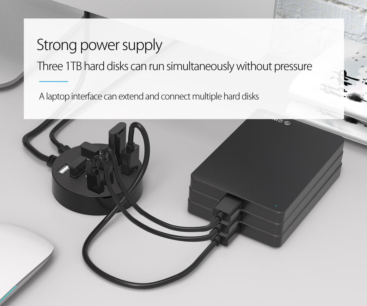 strong power supply can handle 3 hard drives simultaneously