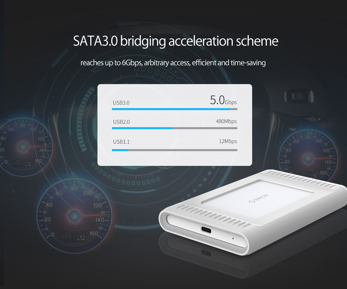 alloy chassis, silicone cover, protect the data