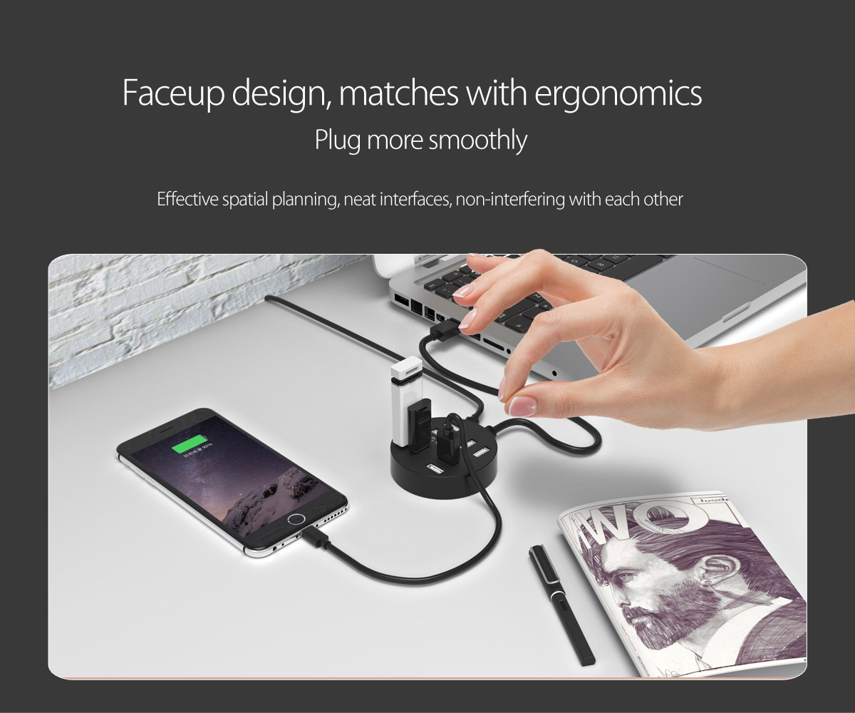 ergonomic design, easy to plug