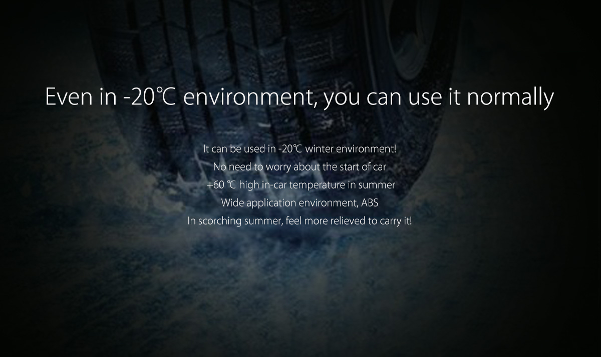 can be used in -20 to 60 degree environment