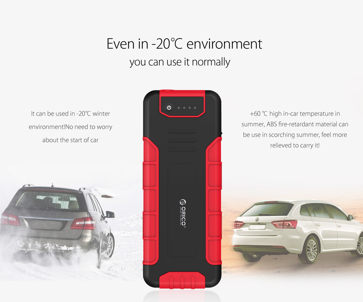 can use it normally even in high or low temperature environment