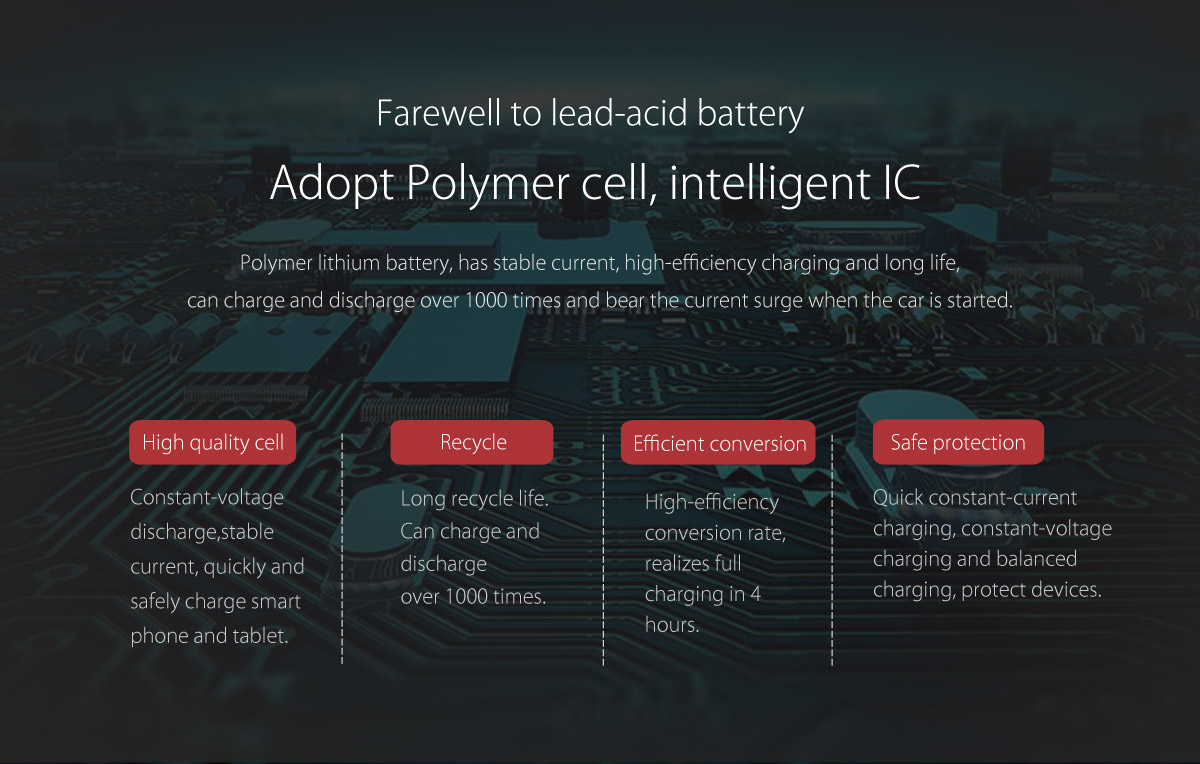 adopt polymer cell,intelligent IC