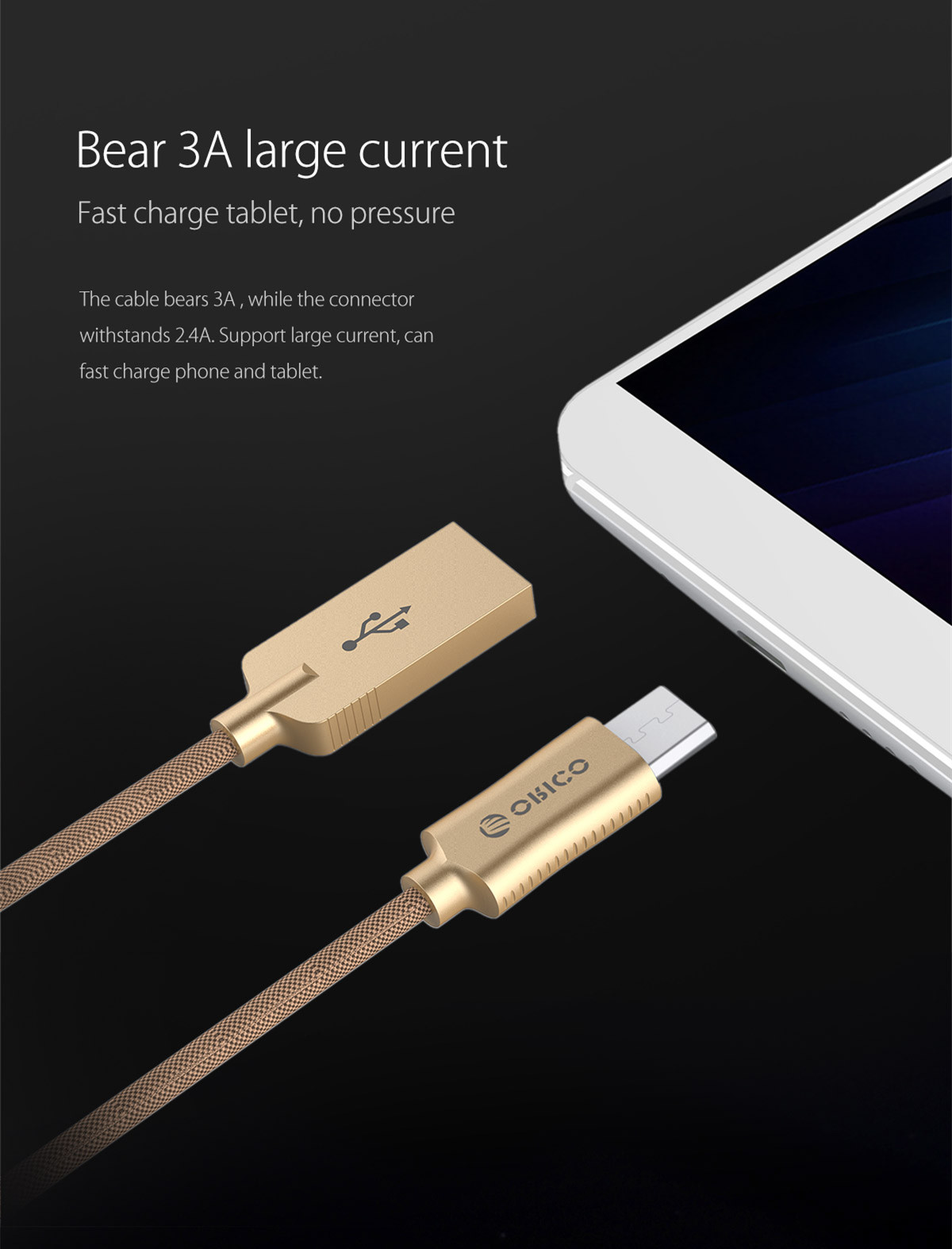 3A large current Android data cable, fast charge