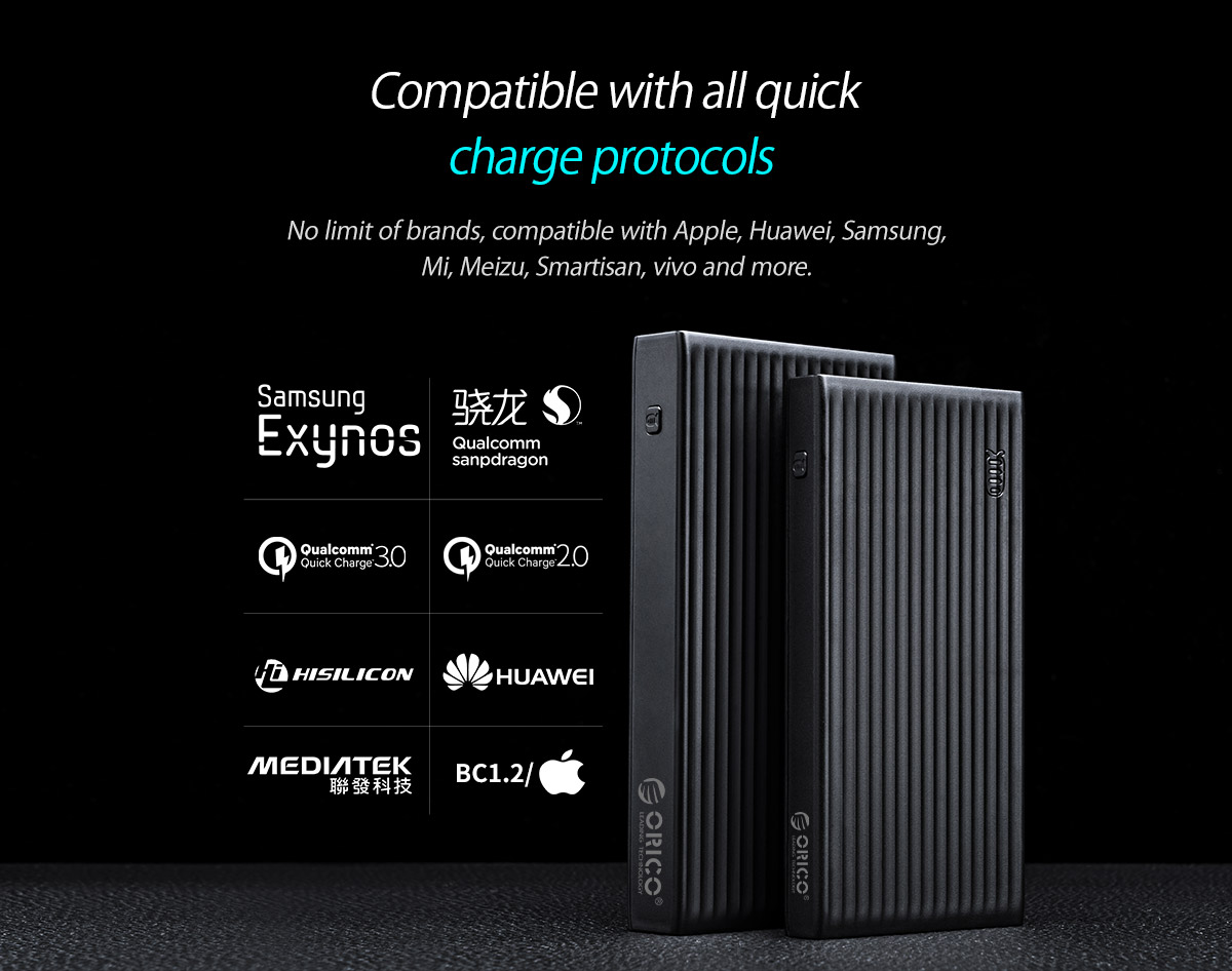 compatible with all quick charge protocols