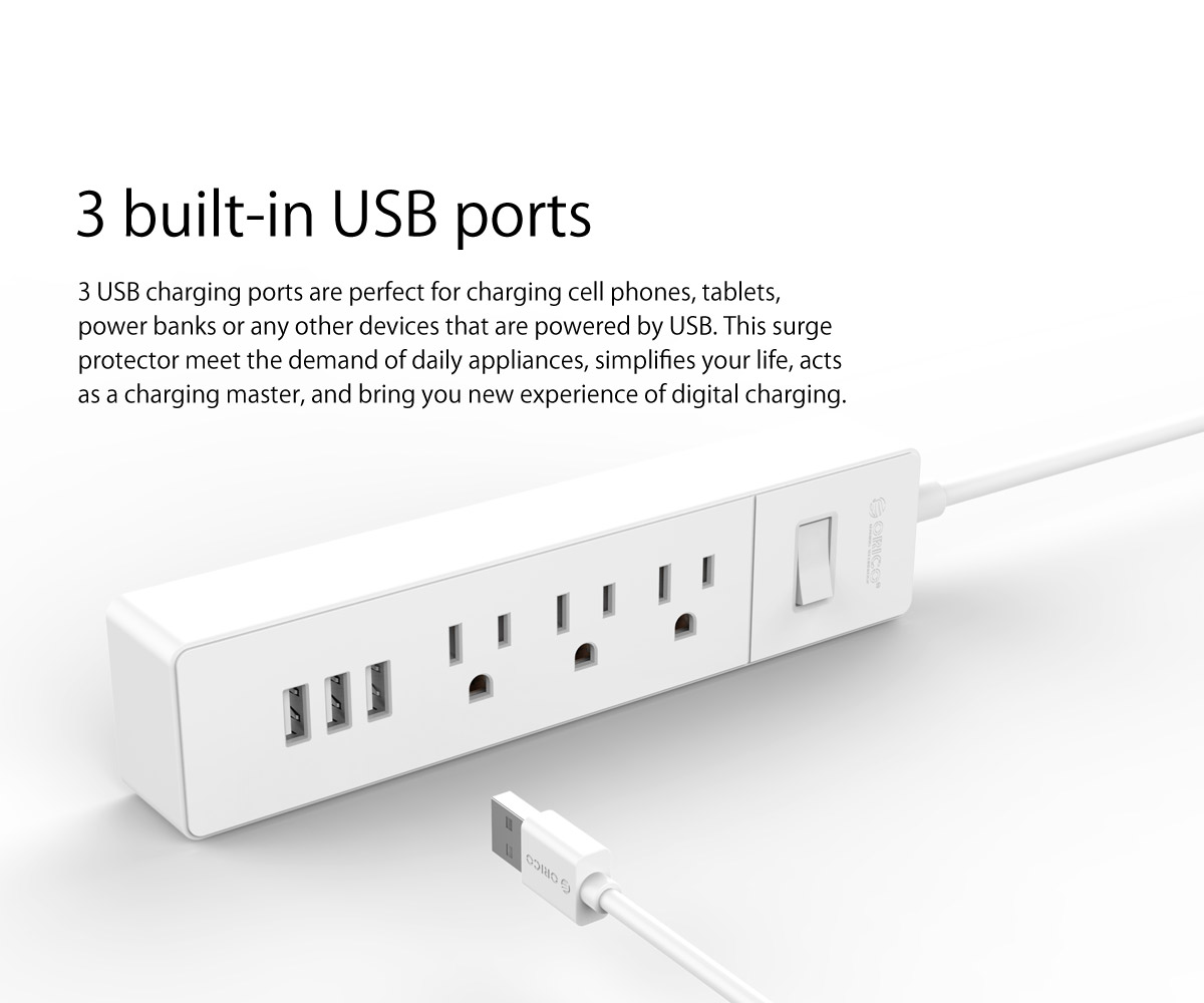 3 built-in USB ports