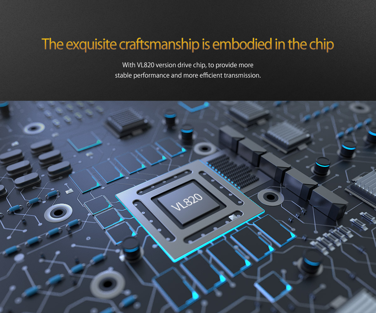 adopts high-quality chip, brings better performance