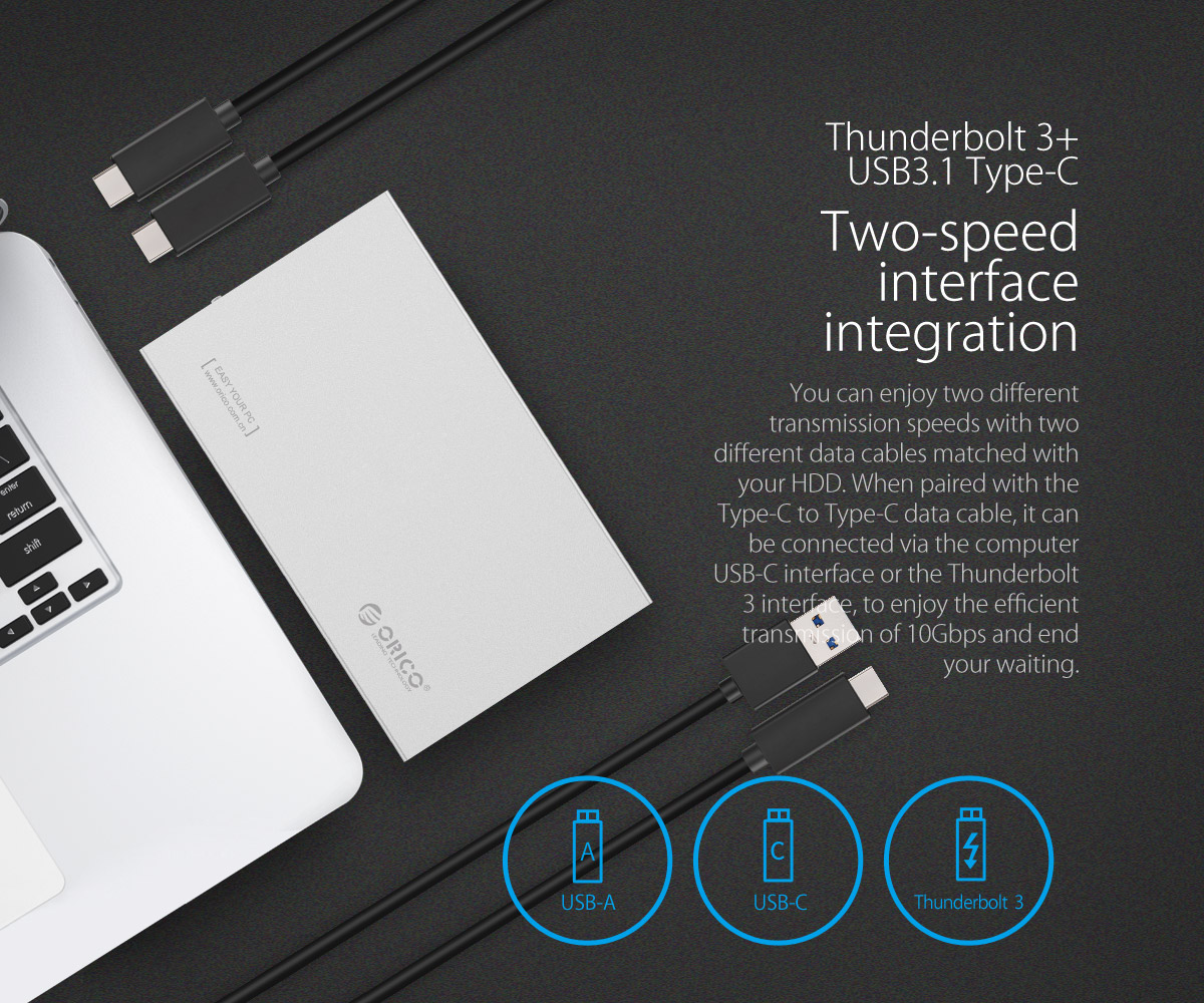 USB3.1 external hard drive 10Gbps transmission speed