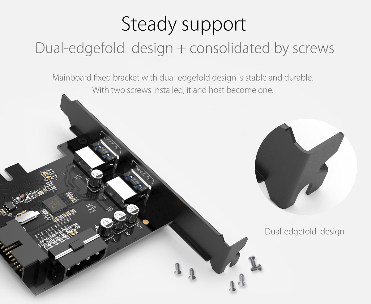 dual-edge fold design and consolidated by screws