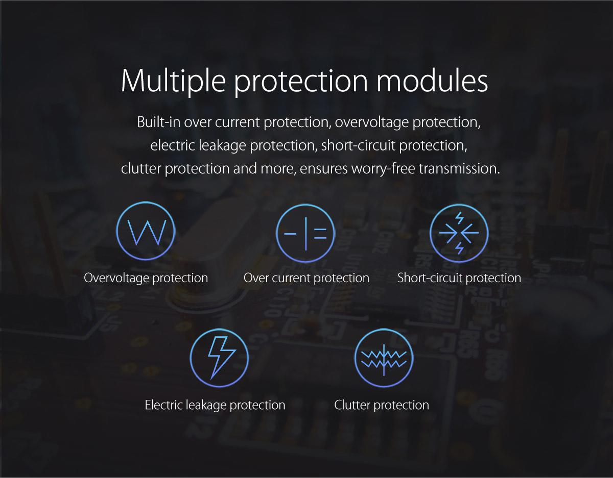 built-in multiple protection modules