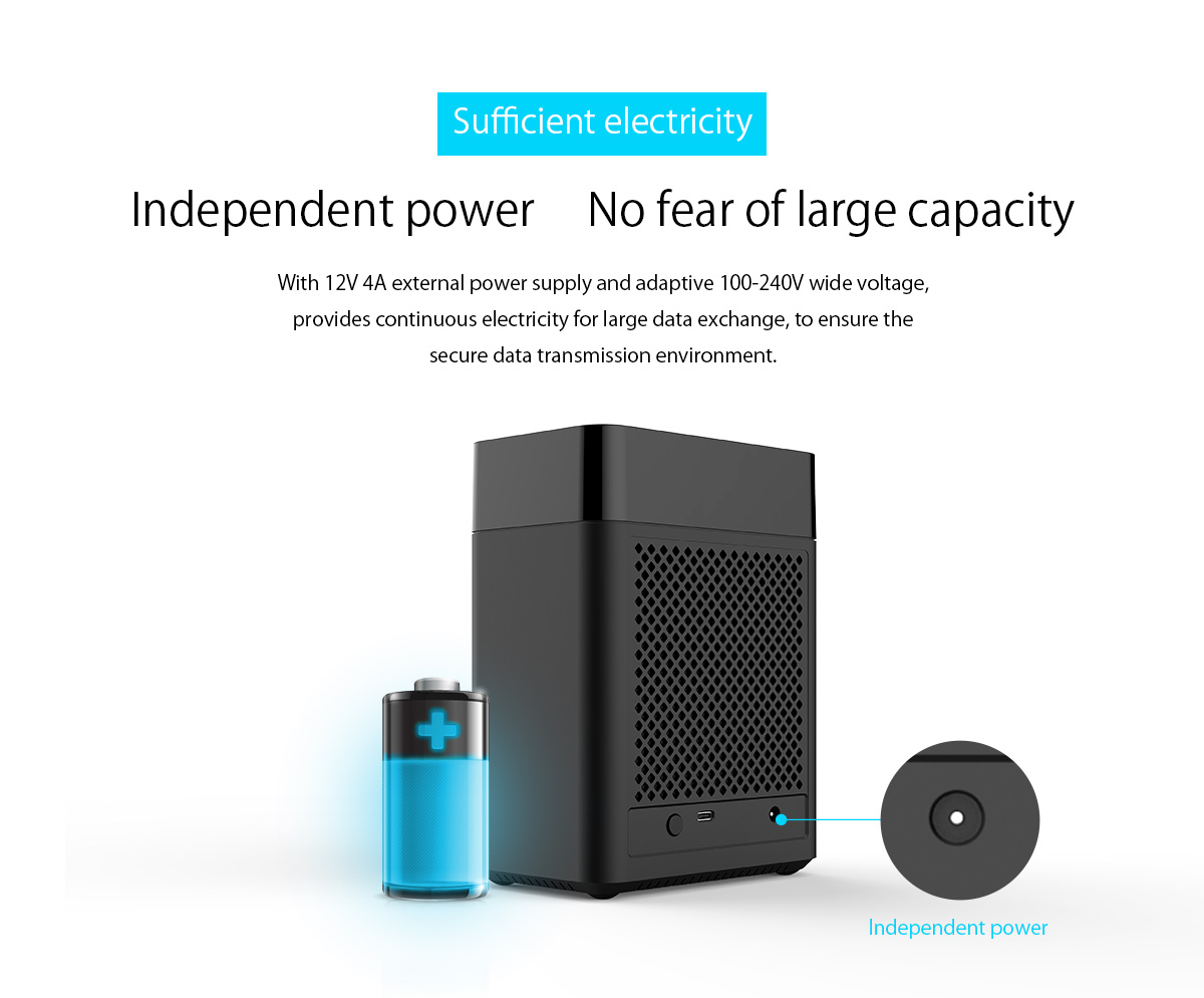 intelligent power, no fear of large capacity
