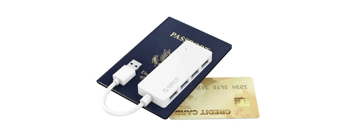 Small size (11mm thick) is perfect for both desktop and carry-on use; plug and play.