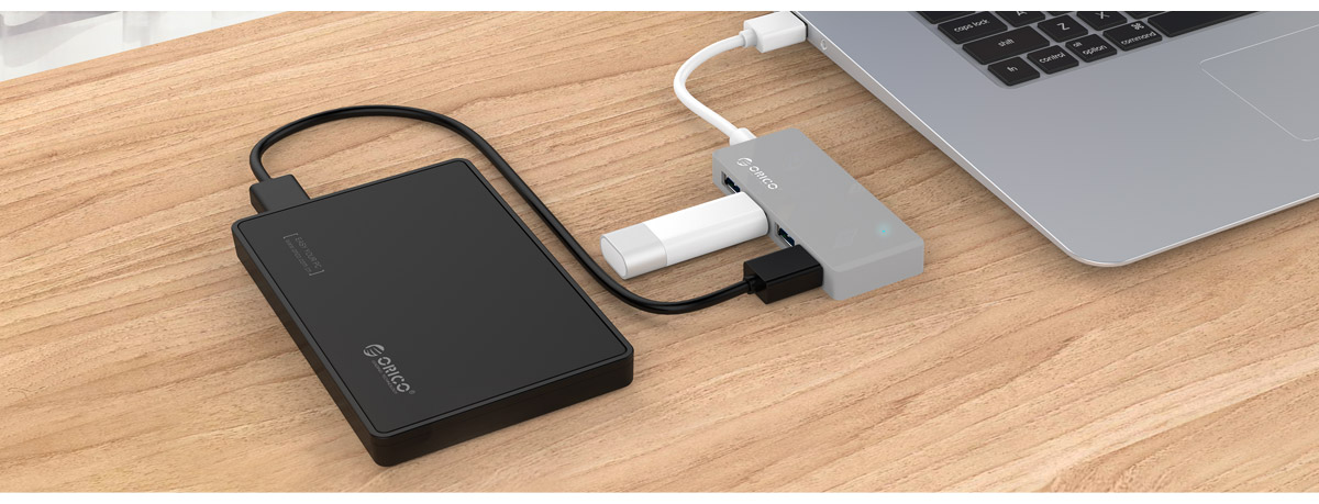 HC4-U3 expands 4 USB ports to protect the original port from damage caused by plugging repeatedly.