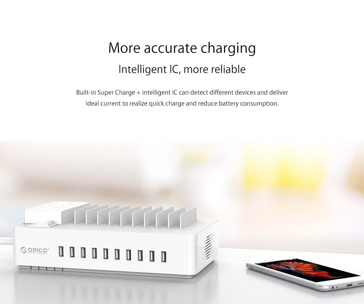 surge protector + USB charger, more accurate charging