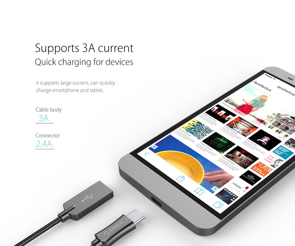 3A large current, fast charge phone or tablet