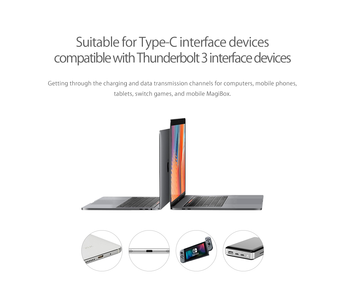 compatible with Thunderbolt3 and Type-C interface devices